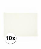 10 witte kartonnen vellen a4