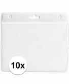 10 witte naamkaartjes houders wit 11 5 x 9 5 cm