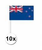 10 zaaivlaggetjes nieuw zeeland