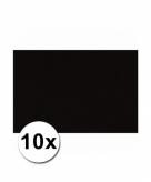 10 zwarte kartonnen vellen a4