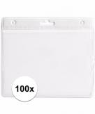100 witte naamkaartjes houders wit 11 5 x 9 5 cm