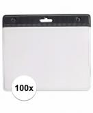 100 zwarte naamkaartjes houders zwart 11 5 x 9 5 cm