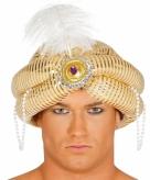 1001 nacht sultan hoed goudkleurig