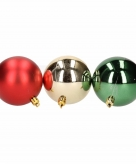 12 delige kerstballen set rood groen 10127898