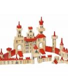 150 delige houten bouw blokken kasteel