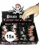 15x kinder armbandje piraten thema