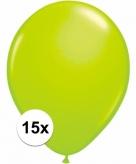 15x voordelige groene ballonnen