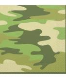 16 camouflage gekleurde servetjes