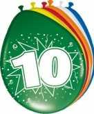 16x party ballonnen versiering van 10 jaar