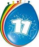 16x stuks leeftijd ballonnen versiering 11 jaar