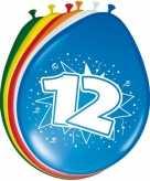 16x stuks leeftijd ballonnen versiering 12 jaar