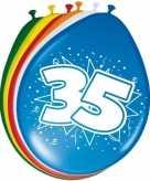 16x stuks leeftijd ballonnen versiering 35 jaar 30 cm