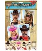18x fotoprops cowboy feestje