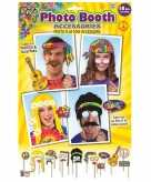 18x fotoprops hippie feestje