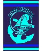 2 persoons badlaken gone fishing voor volwassenen 140 x 200