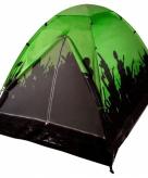 2 persoons festival koepeltentje zwart met groen