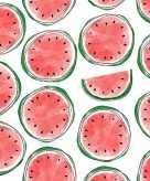 20 feest servetten met watermeloen opdruk 33 cm