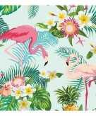 20x feest servetten hawaii flamingo 33 x 33 cm