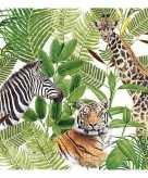 20x feest servetten wilde dieren 33 x 33 cm