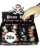 20x kinder armbandjes piraten thema