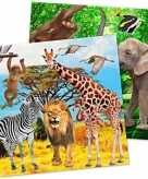 20x safari jungle thema servetten 33 cm