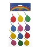 24 stickers van gekleurde ballonnen
