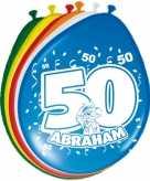 24x stuks leeftijd ballonnen versiering 50 jaar abraham