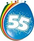 24x stuks leeftijd ballonnen versiering 55 jaar 30 cm