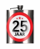 25 jaar cadeau heupfles 200 ml
