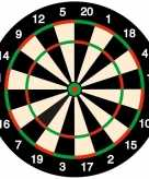 25x feest onderzetters bierviltjes darters dartbord