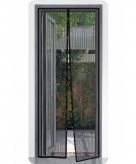 2x opzet deurhor zwart 210 x 50 cm