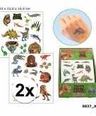 2x tatoeages dinosauriers voor jongens 4 vellen