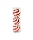 3 kerstballen met swirlprint 15 cm