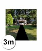 3 meter zwarte lopers 1 meter breed