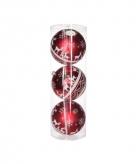 3 rode kerstballen met rendieren