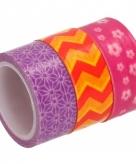 3 rolletjes washitape gekleurd 10080198