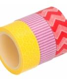 3 rolletjes washitape gekleurd