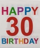 30e verjaardag servetten 20 stuks