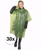 30x groene noodponcho doorschijnend