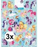 3x grote vellen met my little pony stickers