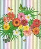 40x feest servetten tropisch boeket 33 x 33 cm