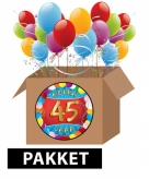 45 jaar feestartikelen pakket