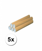 5 knutsel kokers van karton 43x6 cm