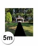 5 meter zwarte lopers 1 meter breed