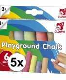 5 x clown stoepkrijt 6 stuks