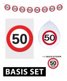 50 jaar verjaardag versiering set basic stopbord