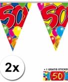 50 jaar vlaggenlijnen 2x met gratis sticker