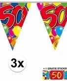 50 jaar vlaggenlijnen 3x met gratis sticker