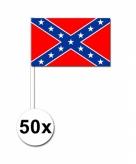 50 stuks zwaaivlaggetjes confederatie