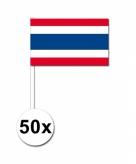 50 stuks zwaaivlaggetjes thailand